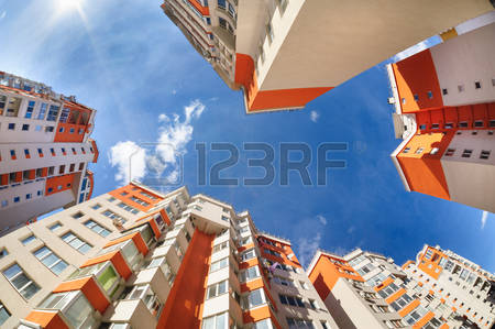 54350306-fisheye-shot-of-new-apartments-buildings-exterior